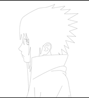 Uchiha Sasuke lineart by Paddy-fan
