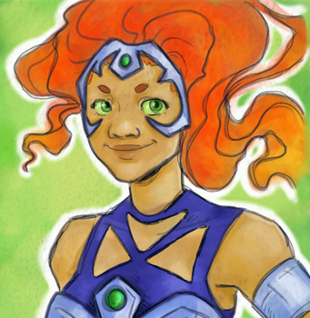 starfire doodle by silverwing66