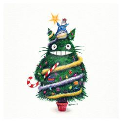 Christmas Totoro by Simanion
