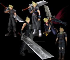 Uniforms of Cloud Strife by Hafu-Inuyasha