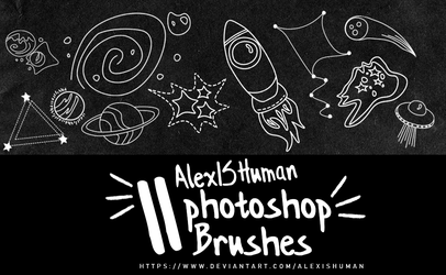 11 Space doodle brushes by AlexISHuman