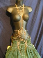 Body chain with belt by BacktoEarthCreations
