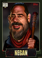 Negan Baseball Card by ThatsSoMaeven