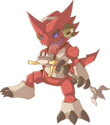 Shoutmon Redraw Commission by AutobotTesla