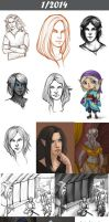Daily doodles 2014-1 by Lysandr-a