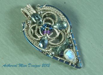 Niobium and sterling pendant by AetherealMinx