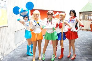 YoumaCon 2012 - Sailor Moon Group by MiaHinano