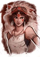 Princess Mononoke by Grimhel