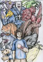 Ben M and His Alien Friends by kjmarch
