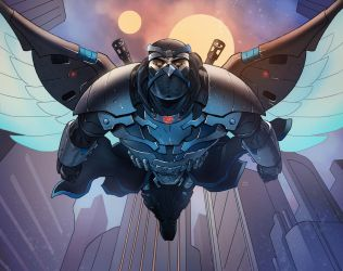 Darkhawk's Flight (Commission) by KaRolding