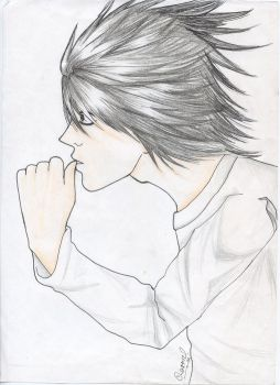 Death Note - L old pic by sharmz