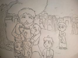 Jesus and the Children by Maaria14