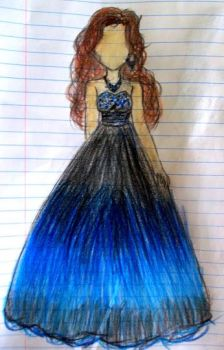 Blue Ombre Ball Gown-Commission by amazinggraceness