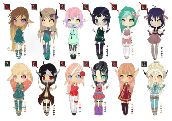 Elves/ Demons Adopts [points only] (-(CLOSED)-) by Pilocre