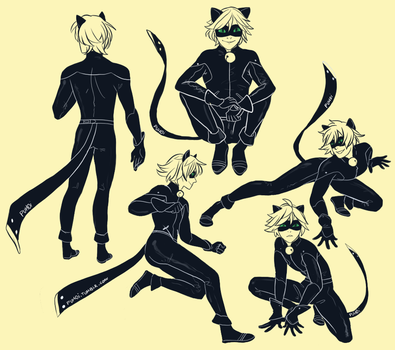 Chat Noir by backinthefarm