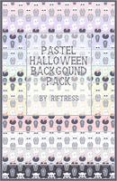 Pastel Halloween Background Pack by Riftress