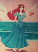 Ariel By The Sea by FlapperFoxy