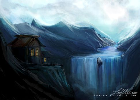 Ice Valley Speed painting by LeanneEast