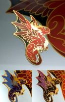 Dragon - enamel pin by sandara