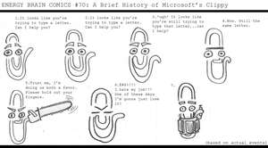 EBC #70: A Brief History of Microsoft's Clippy by EnergyBrainComics
