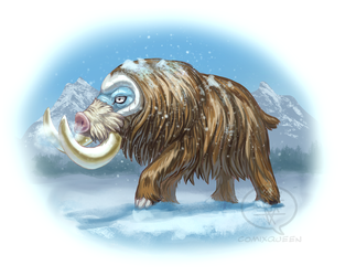 Mamoswine on the Tundra by comixqueen