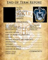 Ravenclaw report card by sarahsaintly