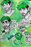 Jacksepticeye Sketch Page by ArtGeek666