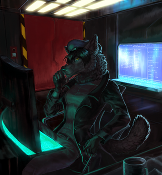 Painted Furry Commission by useless-machine