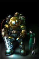 Big Daddy + little sister by EvilFlesh