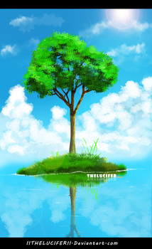 Tree Reflection by IITheLuciferII