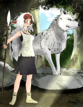 San, Princess Mononoke by Steamrider86