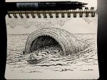 Inktober 12: Whale by Size-And-Stupidity
