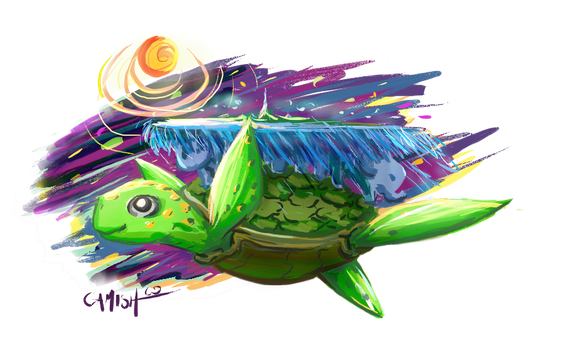 Chibi A'tuin by CamishCD