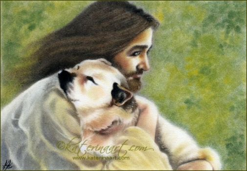 Safe in the arms of Jesus commission by Katerina-Art