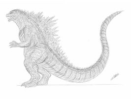 My GCU Godzilla Design by cwpetesch