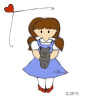Dorothy and Toto by WingedValiance