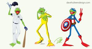 The Many Faces of Kermit by dhulteen