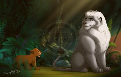 Meeting The King of Jungle by R-FakonWolf
