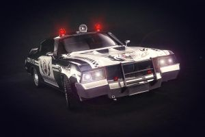 police car by hesamsaken