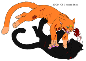 Firestar VS Scourge by ShadowTheLeader