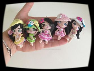 Doll chibi polymer clay by PolymerClayfantasy