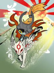 Ammy and Midna by D00pcakes