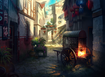 Chinese street by IvanLaliashvili