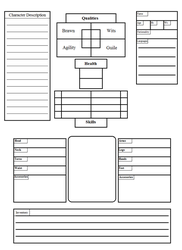 Homebrew RPG character sheet. by BoriStonecutter