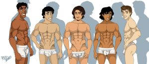 Disney Dudes in White by The-Red-Bones