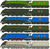 NYC Loco Company LNER A4s by Lapeer