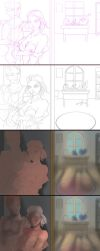 Steps of Nick and Bellwether by AmeDvleec