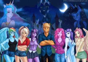 Commission: Equestrian Heroes by Amenoosa