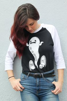 Dead or Whatever Raglan Shirts by loveandasandwich