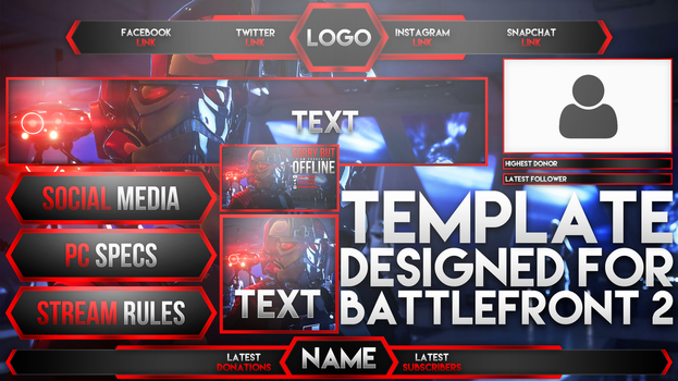 Twitch Live Stream Template - Battlefront 2 by AcezProduction